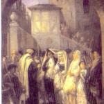 מוריץ דניאל  אופנהיים, החתונה, שמן על בד, 1861
