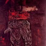 פניקה אודות מכנסיים, קולאז', 1961, יגאל תומרקין