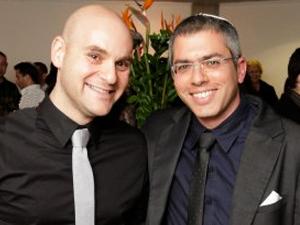 בני אלבז (מימין) ונתי אפשטיין