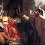 משה ואהרן לפני פרעה, ציור של בנג'מין וסט